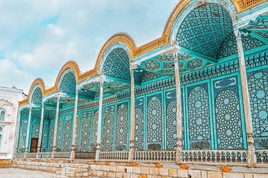 sitorai mokhi-khosa palace in bukhara uzbekistan
