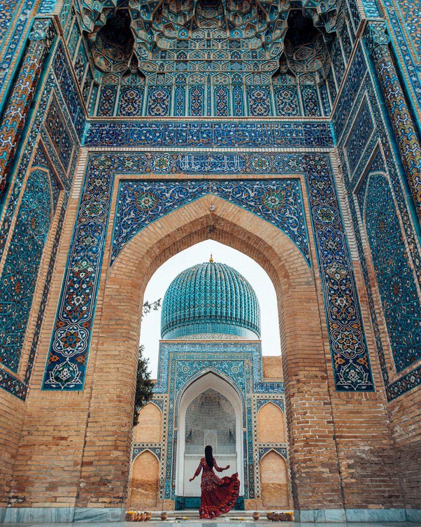 gur e amir mausoleum in uzbekistan