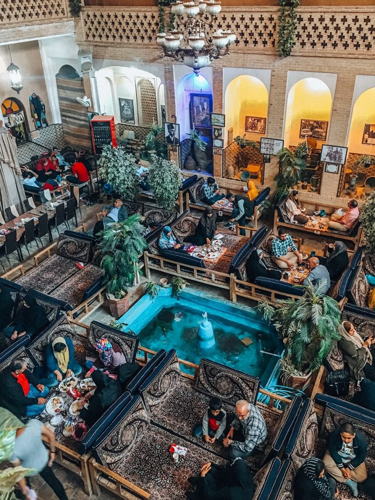 Abbasi Teahouse and Restaurant in Kashan, Iran