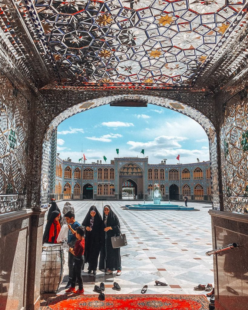 The Architecture Inside Mohammed Helal Shrine in Aran va Bidgol, Iran