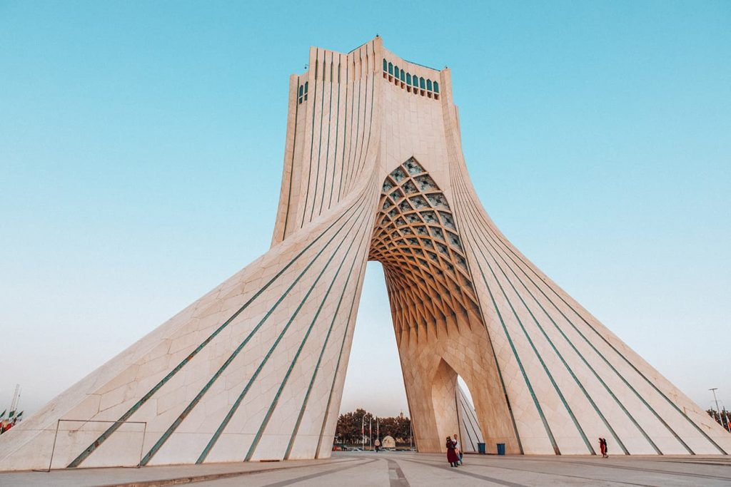 The Azadi Tower in Tehran, Iran