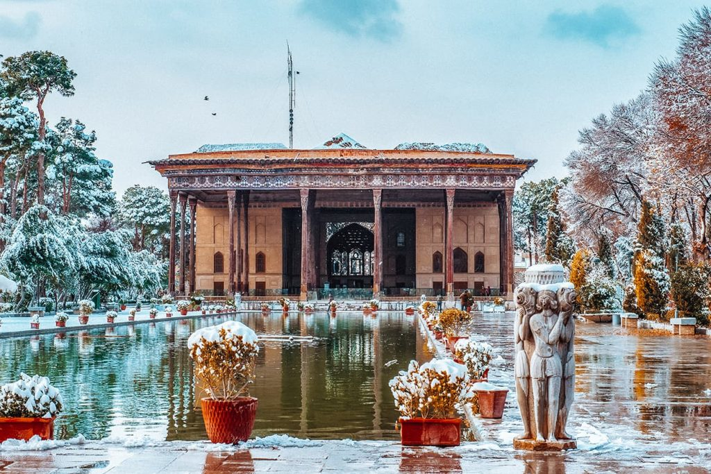 Chehel Sotoun Palace in Isfahan, Iran
