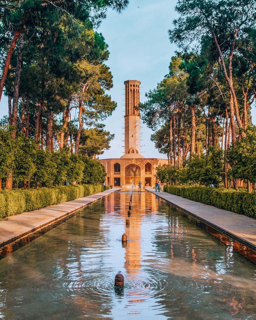 Dolat Abad Garden in Yazd, Iran