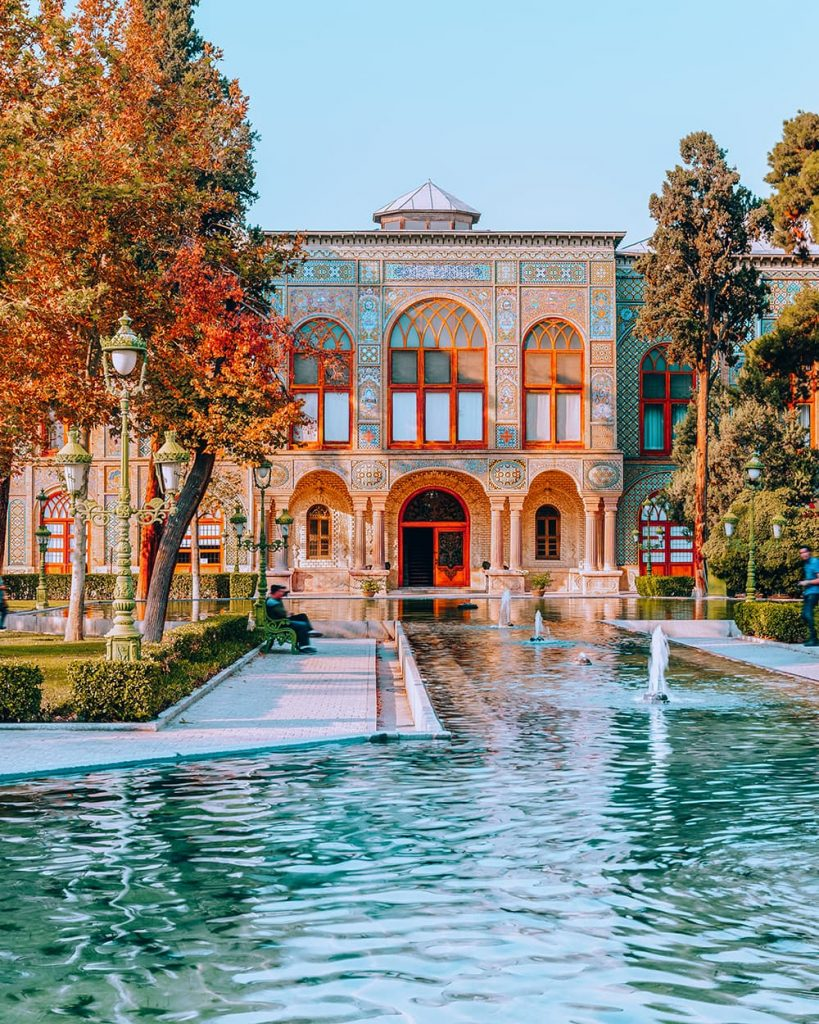 The Pond of Golestan Palace in Tehran, Iran