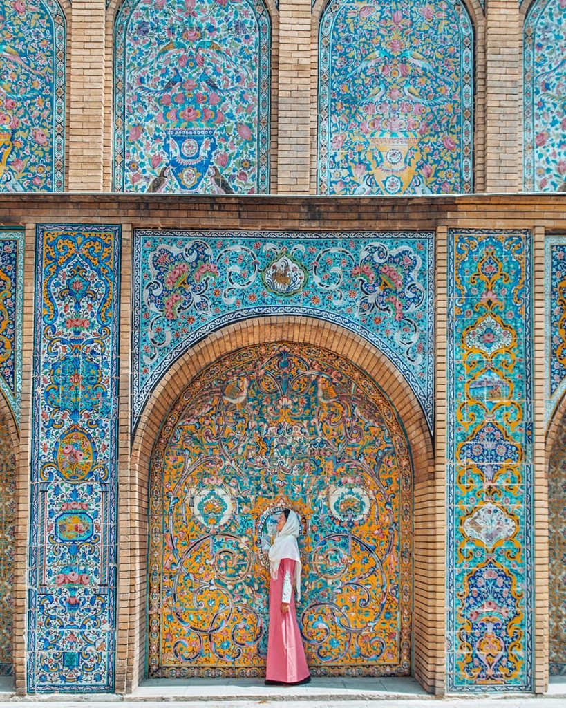 The Colorful Tilework of Golestan Palace in Tehran, Iran