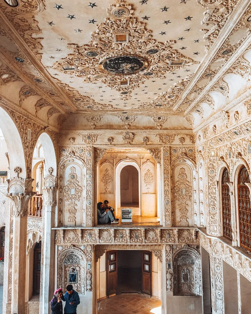 The Architecture Inside A Historical House in Kashan, Iran