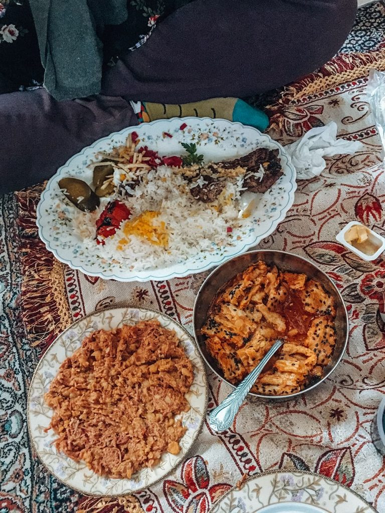 Local Food in A Restaurant in Kashan, Iran