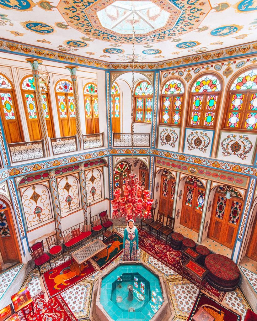 The Beautiful and Colorful Interior Decor of Mollabashi House in Isfahan, Iran
