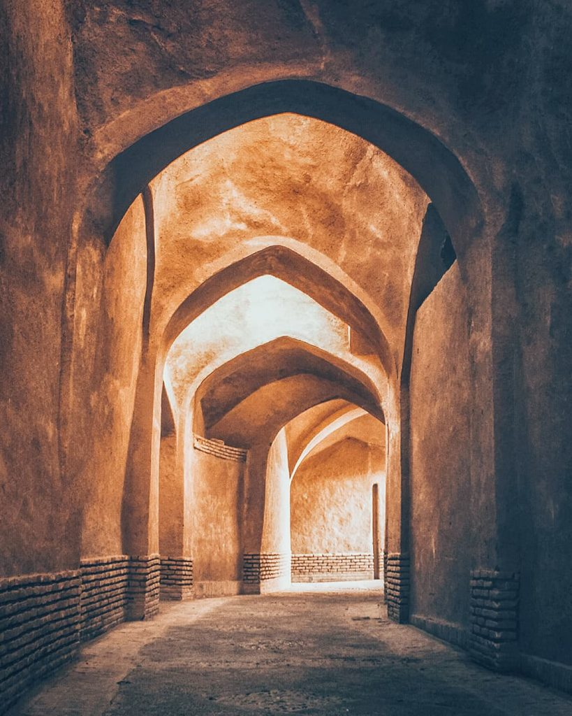 The Narrow Alleys in Yazd, Iran