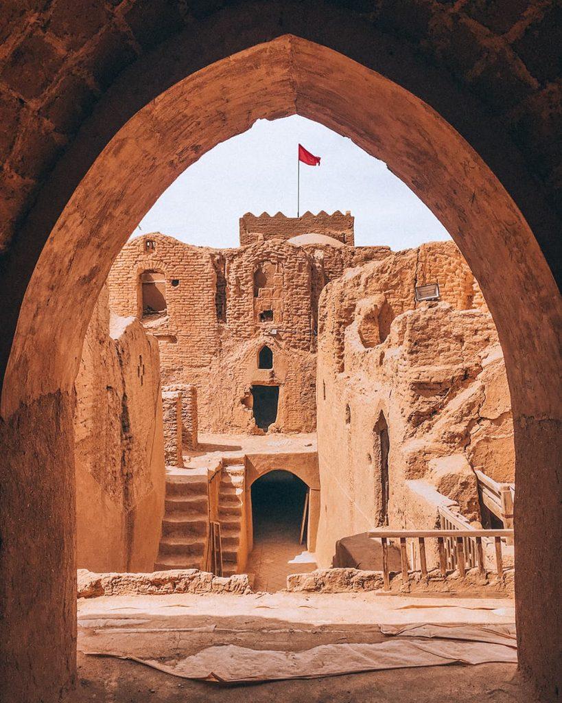 Sar Yazd Castle in Yazd, Iran