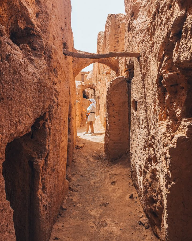 The Narrow Alleys of Sar Yazd Castle in Yazd, Iran