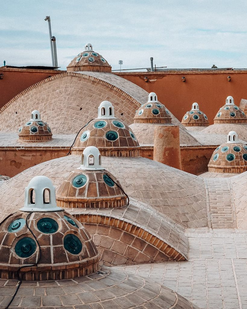 The Rooftop of Sultan Amir Ahmad Bathhouse in Kashan, Iran
