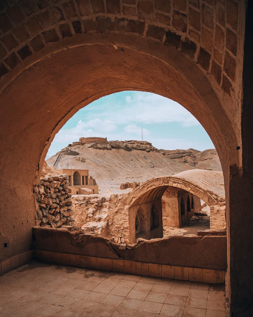 The Zoroastrian Towers of Silence in Yazd, Iran