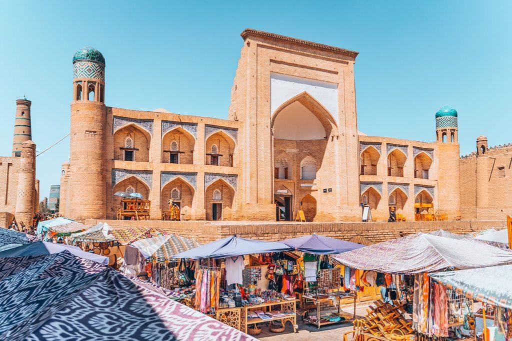 An Outdoor Bazaar in Itchan Kala, Khiva, Uzbekistan