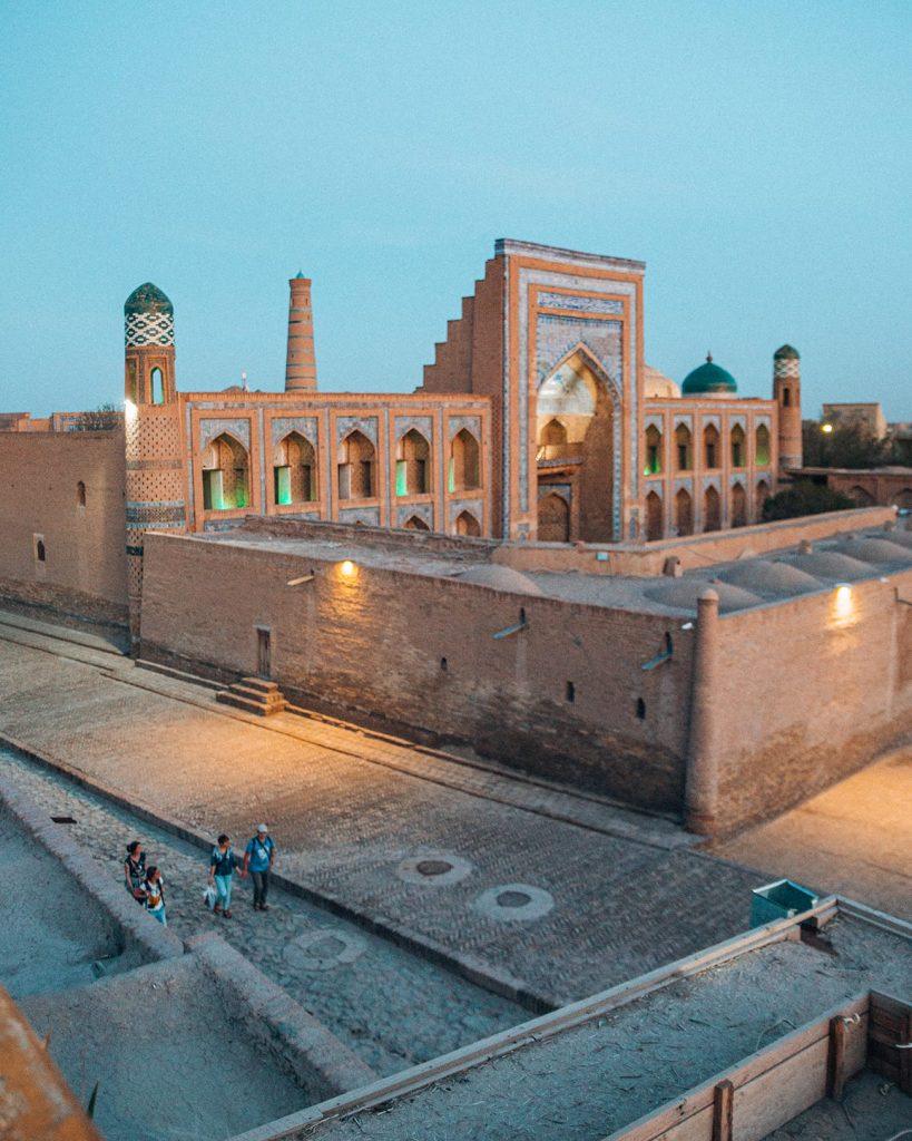 The View from Terrassa Cafe Restaurant in Khiva, Uzbekistan