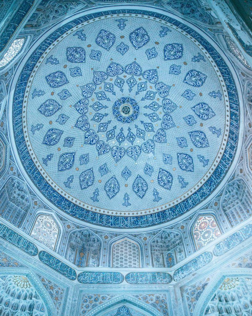 A Blue Ceiling in Samarkand Uzbekistan