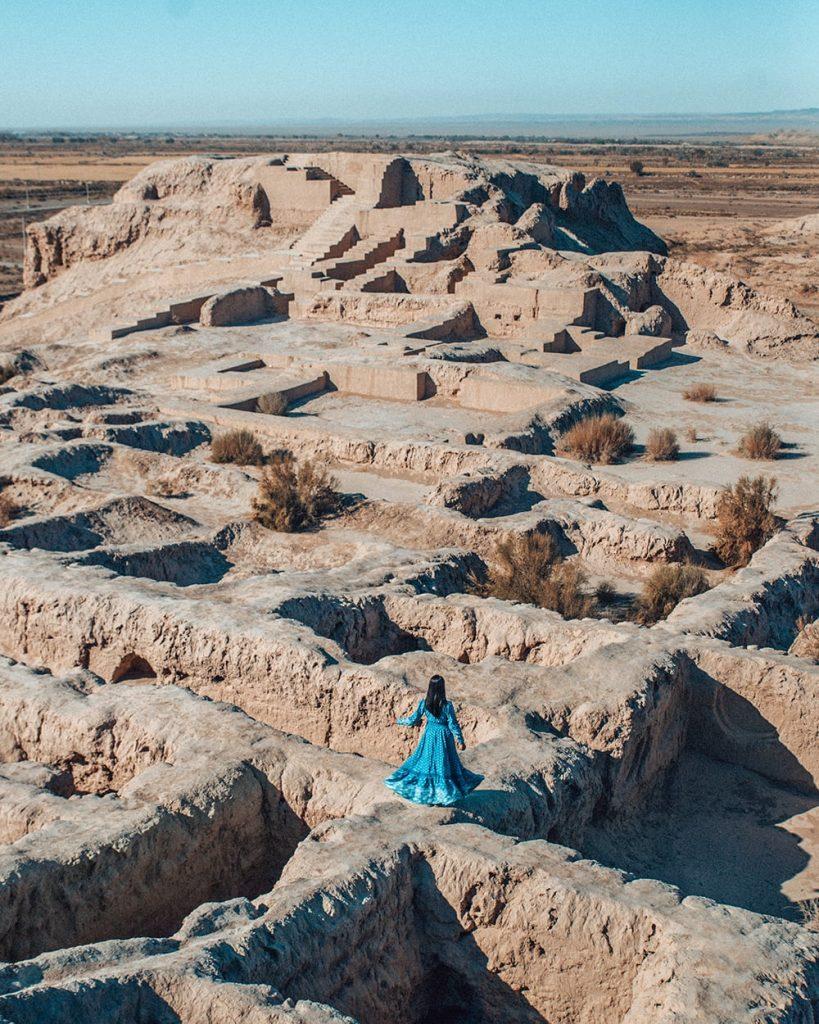 The Khorezm Fortresses in the Karakalpak Desert in Uzbekistan