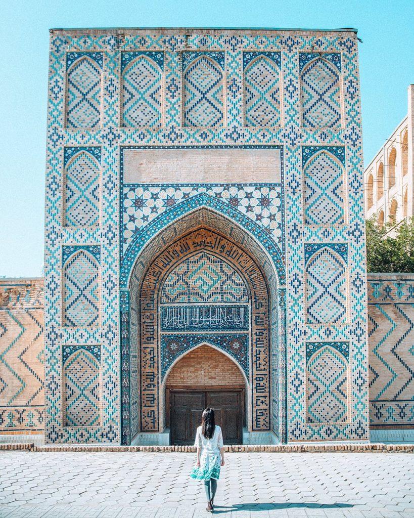A Gate Near Bibi Khanym Mosque in Samarkand Uzbekistan