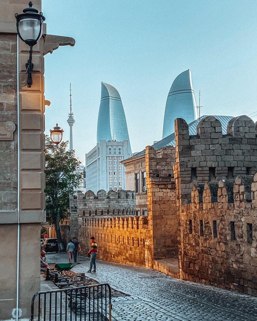 The Fortress Walls of Icherisheher, the Old Town of Baku, Azerbaijan
