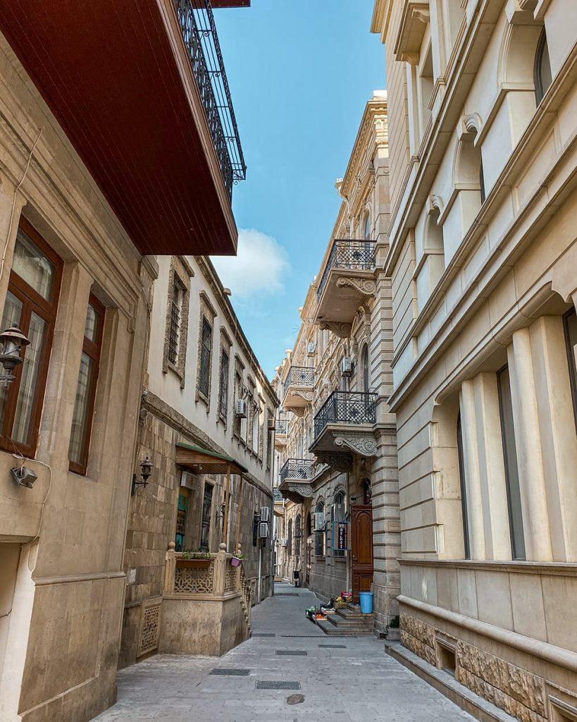 Buildings in Icherisheher, the Old Town of Baku, Azerbaijan