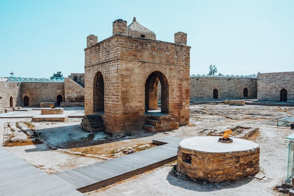 The Ateshgah Fire Temple in Baku, Azerbaijan