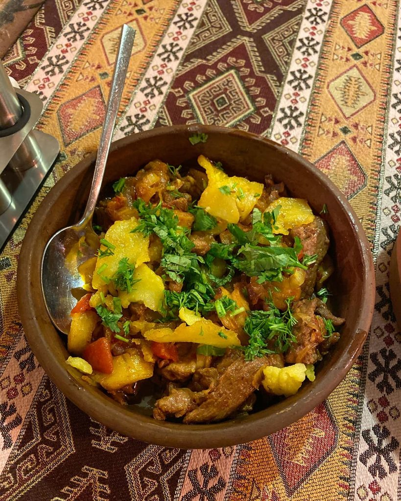 A Local Dish in a Restaurant in Baku, Azerbaijan