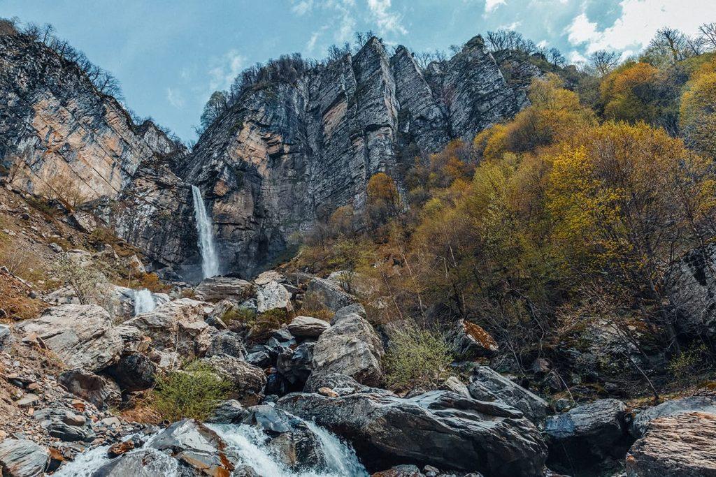 Rocky Mountains and Waterfalls in Gabala, Azerbaijan