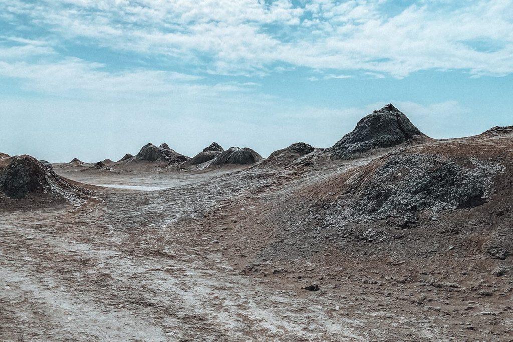 Mud Volcanoes in Gobustan Near Baku, Azerbaijan