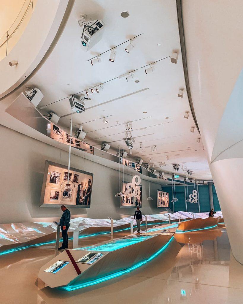 Exhibitions Inside Heydar Aliyev Center in Baku, Azerbaijan
