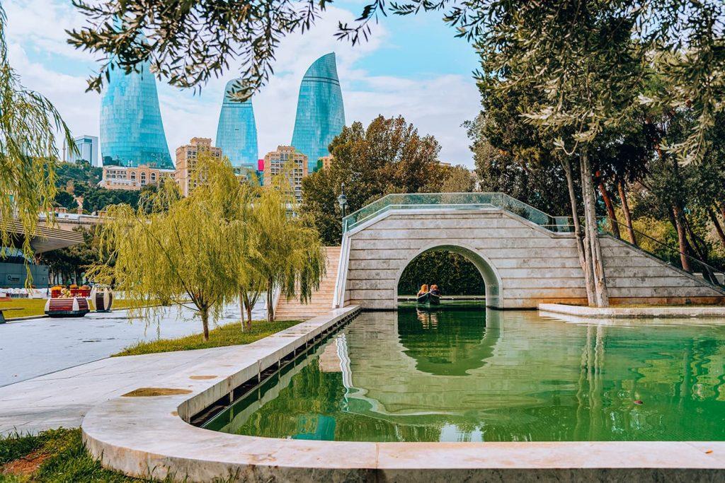 The Canals of Little Venice in Baku, Azerbaijan