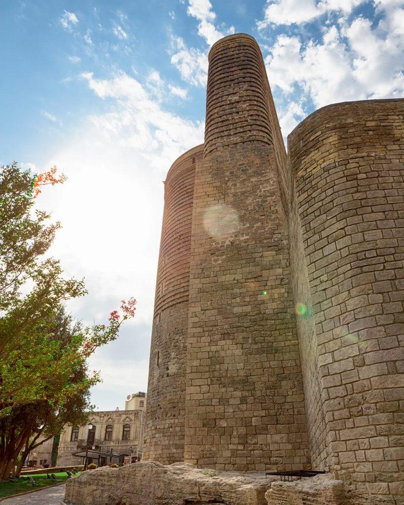 The Maiden Tower in Baku, Azerbaijan