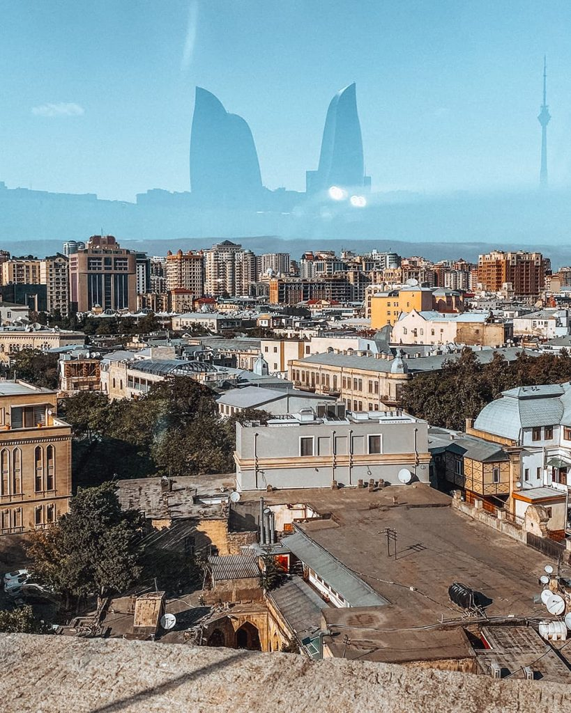 The View from the Terrace of the Maiden Tower in Baku, Azerbaijan