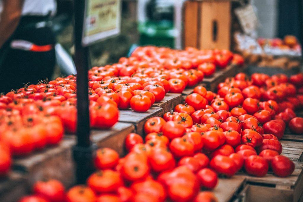 Tomatoes in a Market in Baku, Azerbaijan