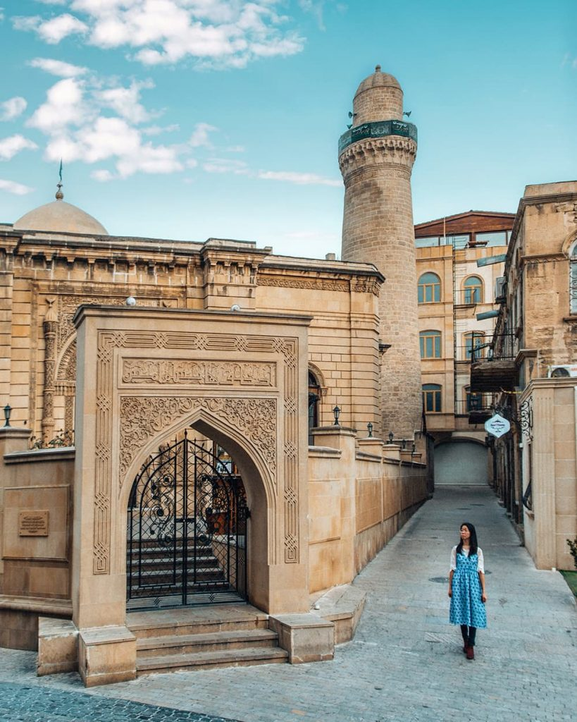 Muhammad Mosque in Icherisheher, the Old Town of Baku, Azerbaijan