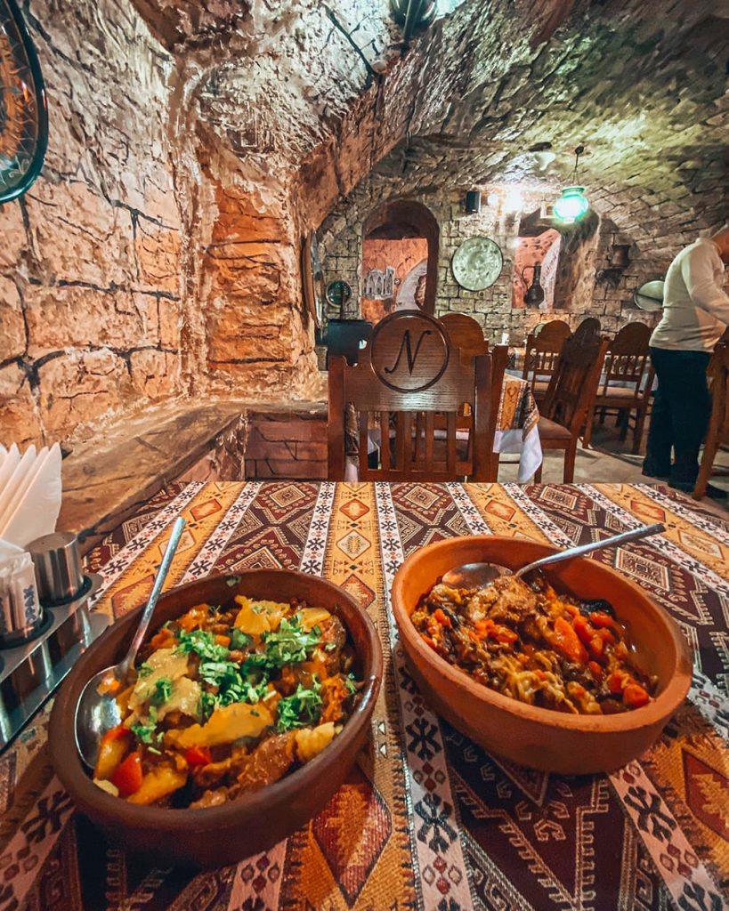 Local Dishes at Nergiz Restaurant in Baku, Azerbaijan