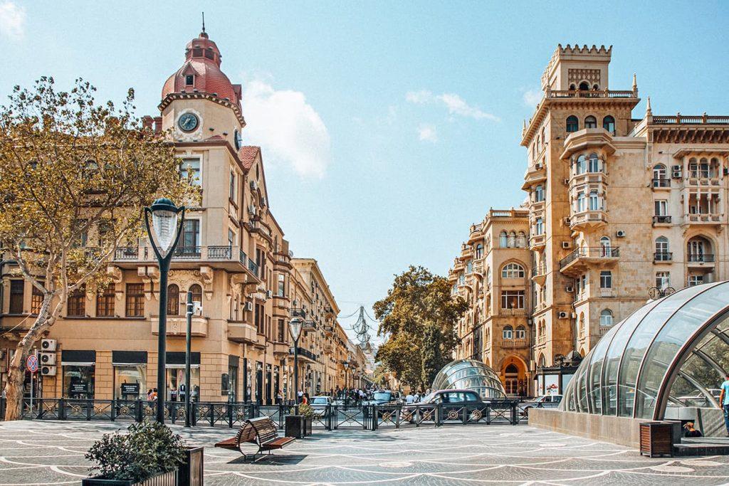 Nizami Street in Baku, Azerbaijan