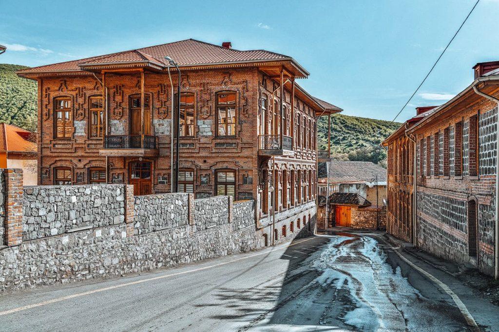 Houses in Sheki, Azerbaijan