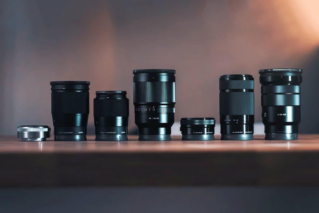 Sony Lenses On A Table