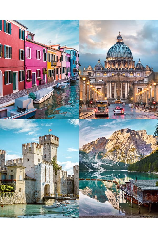 Famous Landmarks in Italy Collage
