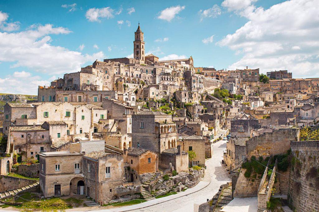 Sassi di Matera in Puglia, Italy