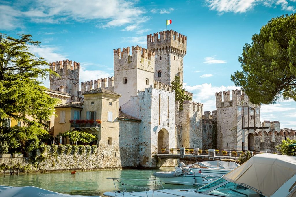 Scaligero Castle in Sirmione, Italy
