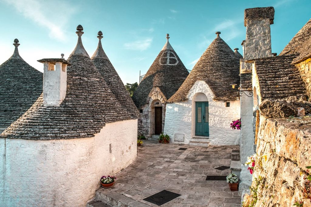 The Trulli Houses of Alberobello in Puglia, Italy