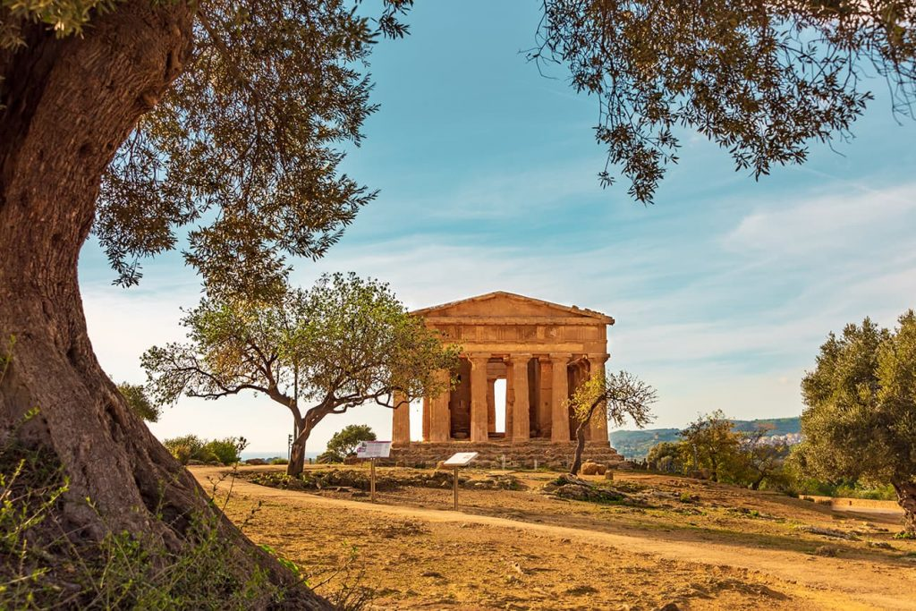 The Valley of the Temples in Agrigento, Sicily, Italy