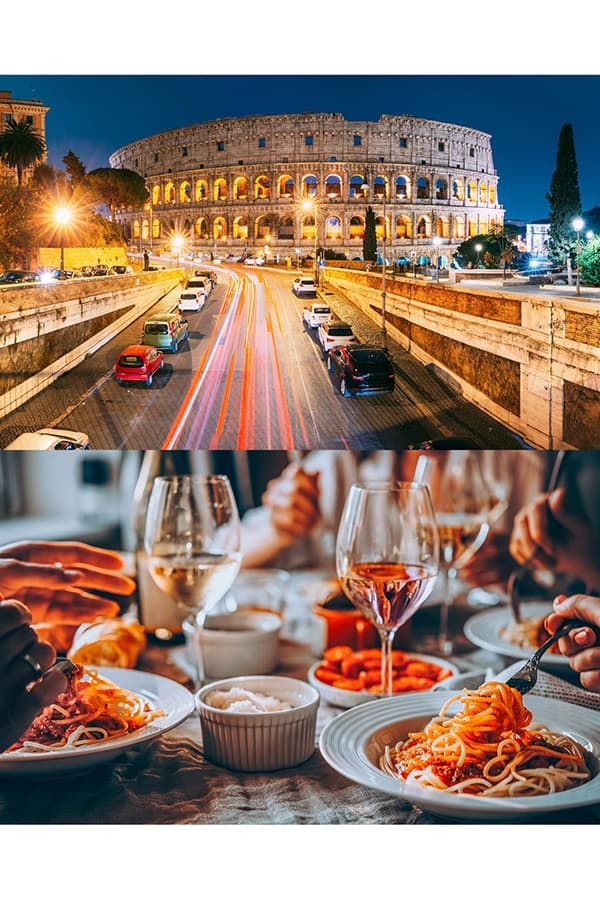 Rome by Night Tours Colosseum and Italian Food