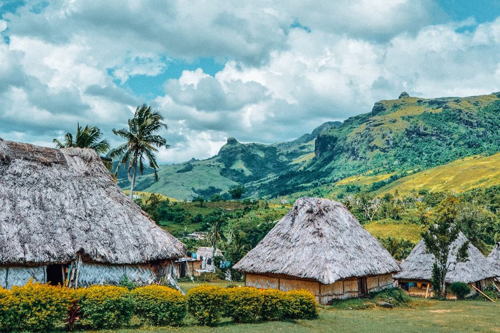 Houses in a Village in Fiji