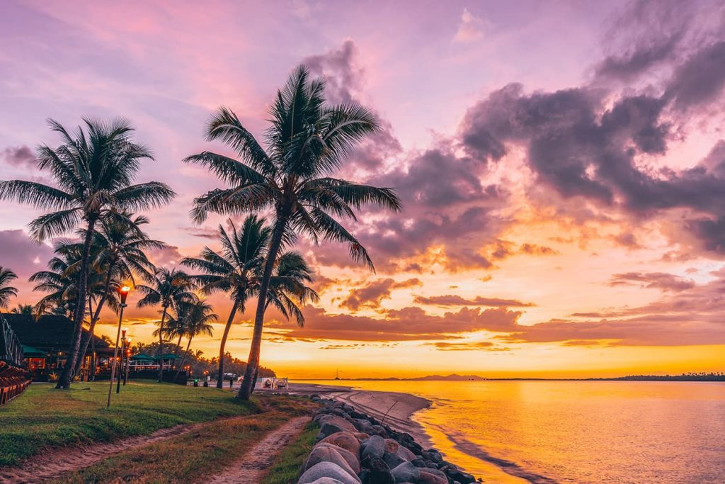 Wailoaloa Beach Sunset in Nadi, Fiji