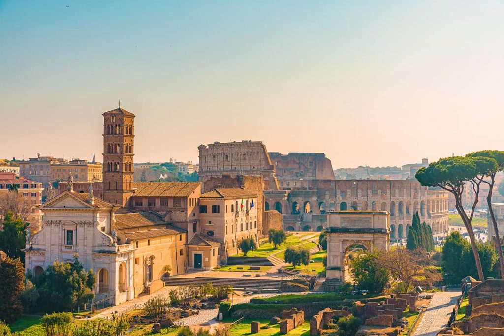 View From the Palatine Hill in Rome, Italy