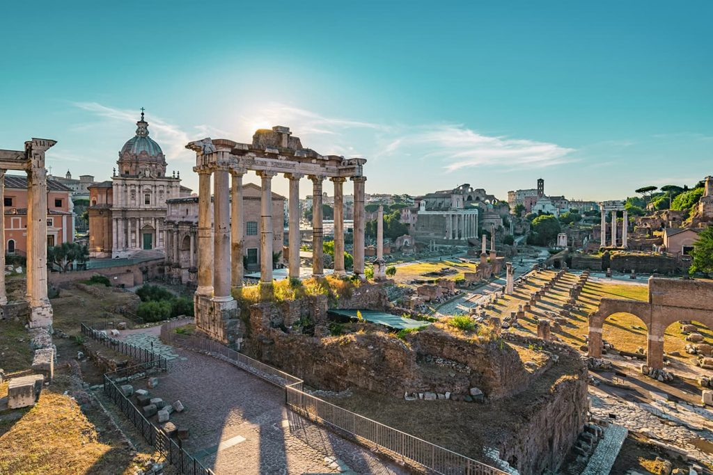 The Ruins of the Roman Forum in Rome, Italy