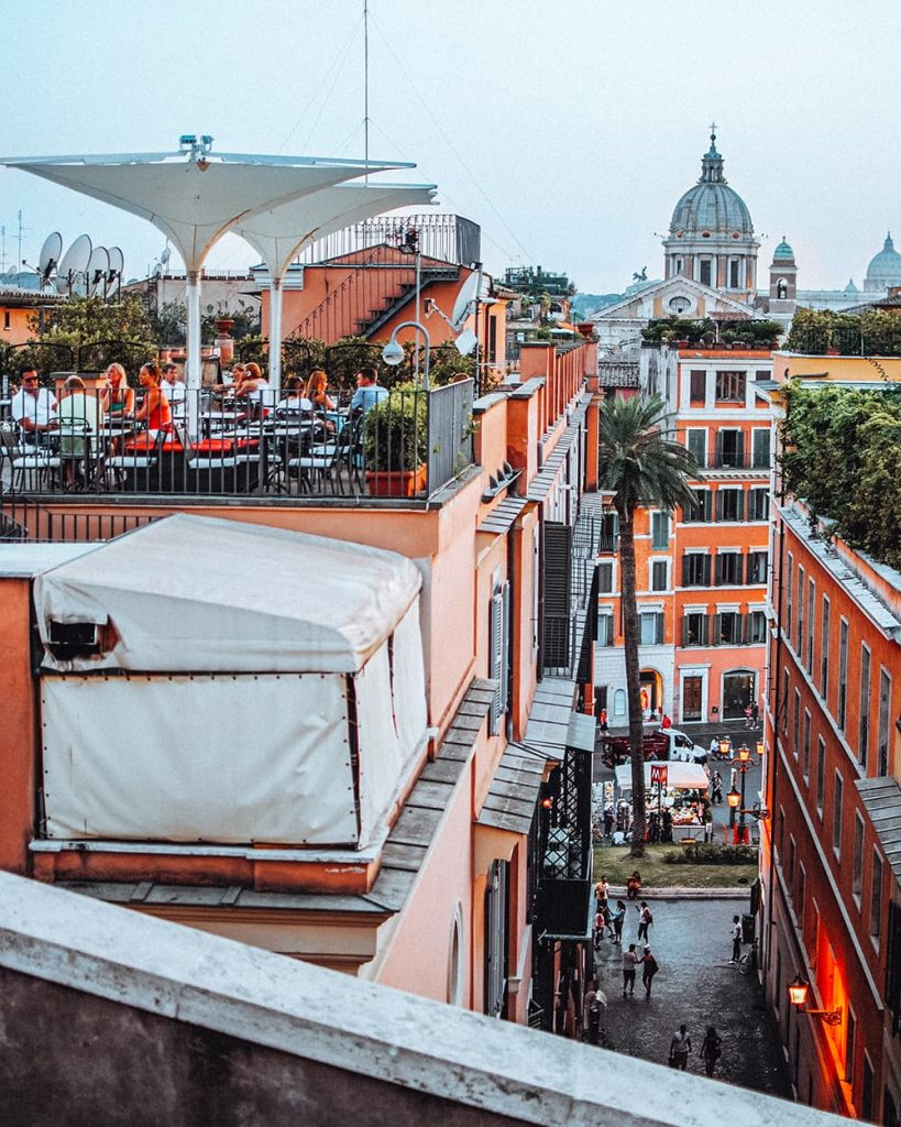 A Rooftop with a View in Rome, Italy