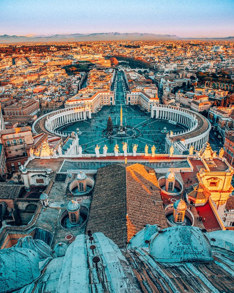 The View of Rome From the St. Peter's Basilica Dome in Vatican City, Italy